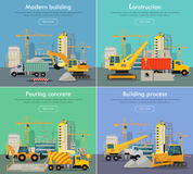 Process of Construction Residential Houses  Stock Image