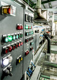 Process control panel in factory 1 Royalty Free Stock Image
