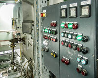 Process control panel in factory 2 Royalty Free Stock Image