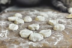 The process of cooking Dumplings royalty free stock photography
