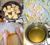 The process of cooking homemade cookies Stock Image