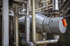 Process cooler or exchanger for refinery or chemical plant Stock Image