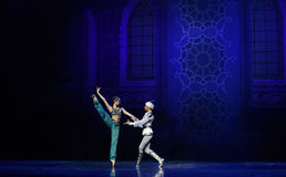 """The process of courtship- ballet """"One Thousand and One Nights"""" Royalty Free Stock Photography"""