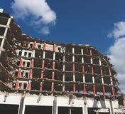 In the process of demolishing a building royalty free stock photo