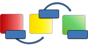 Process diagram stock image