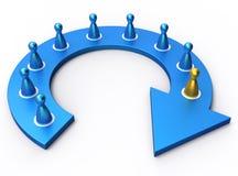 Process diagrams Stock Image
