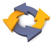 Process diagrams Stock Photo