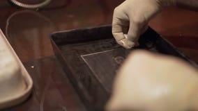 Process displays a photo close-up stock video footage