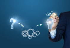 Process of emergence of ideas. Process of emergence of ideas concept design Royalty Free Stock Photo