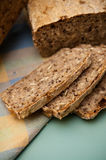 Process för hemlagat bröd Arkivbild