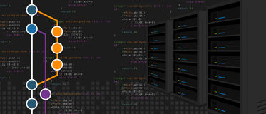 Process för server för omstörtning för Git förvaringsrumprogramvara reserv-, i att programmera och att kodifiera med milstolpefil stock illustrationer