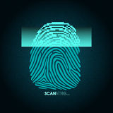 The process of fingerprint scanning - digital security system Stock Image