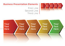 Process flow. Business process flow presentation arrows Royalty Free Stock Photo