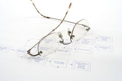 Process Flow. Close up of a business process flow report Royalty Free Stock Images