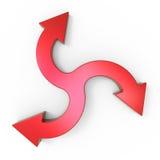 Process flow chart diagram. Business process diagram as a concept royalty free illustration
