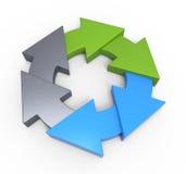 Process flow chart diagram. Business process diagram as a concept vector illustration