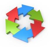 Process flow chart diagram. Business process diagram as a concept stock illustration