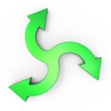 Process flow chart diagram. Three rotating arrow as concept vector illustration