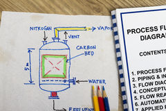 Process flow diagram Stock Photo