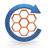 Process flowchart diagram. Business process diagram as a concept Stock Images