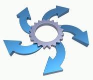 Process flowchart diagram Stock Photography