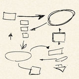 Process flows on a sheet of lined paper Stock Photo