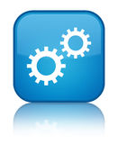 Process icon special cyan blue square button Royalty Free Stock Image