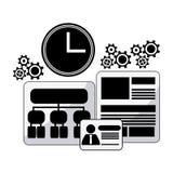 Process icons design Royalty Free Stock Photos