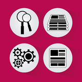 Process icons design Stock Images