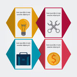 Process icons design Stock Photography