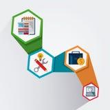 Process icons design Stock Photo