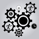 Process icons design Royalty Free Stock Image