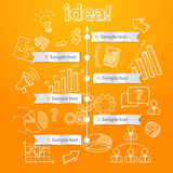 Process of idea generation, business illustration Royalty Free Stock Image