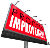 Process Improvement Procedure System New Overhaul Billboard Sign Stock Image