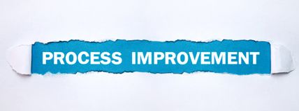Process Improvement text on torn paper royalty free stock photos
