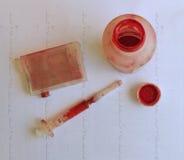 Process of ink cartridge refill Stock Photos