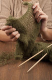 Process of knitting Stock Photography