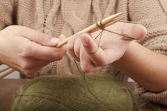 Process of knitting Stock Photos