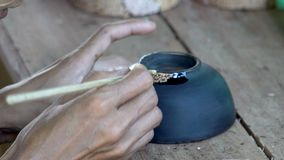 Process of Laquer Ware Hand Craft. Shot with a Sony a6300 fps29,97 4k stock video