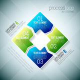 Process Loop Infographic. Vector illustration of process loop infographic elements Royalty Free Stock Photos