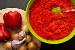 Homemade red paprika still life Royalty Free Stock Photo