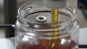 The process of making honey. Pouring,filling honey to jar.  immune system