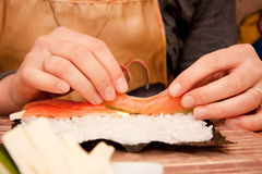 Process of making sushi Stock Photos