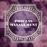 Process Management. Vintage Design Concept. Stock Images
