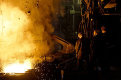 Process of manufacturing metal Stock Photo