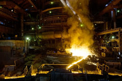 Process of manufacturing metal Royalty Free Stock Photography