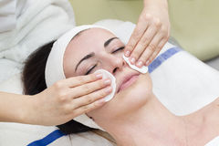 Process of massage and facials Stock Photography