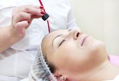 Process of massage and facials Stock Image