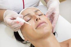 Process of massage and facials Stock Photo