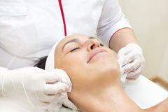 Process of massage and facials Royalty Free Stock Images